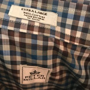 Peter Millar Shirts - Peter Millar Plaid Long Sleeve Shirt